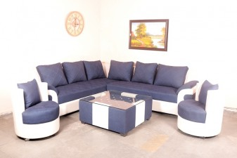 used Grey N White Sofa Set