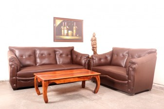 used 5 Seater Brown Sofa Set