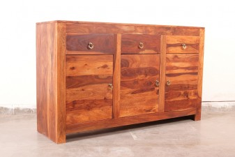 used Sheesham Wood Plain Cabinet