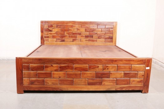 used Brick Double Bed Front Droz