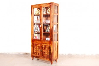 used Crockery Cum Book Rack