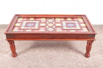 used 4x2 Ft Tile Fitted Center Table