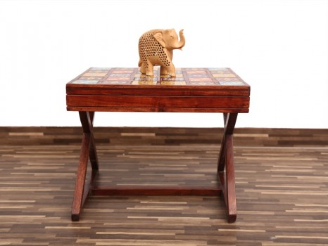 used Multicolor Tiles X Side Table