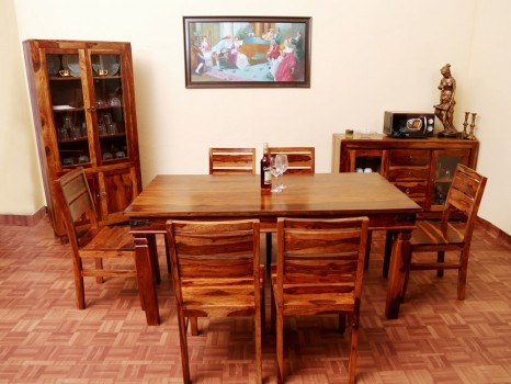 used Jupiter 6 Seater Dining Table Set